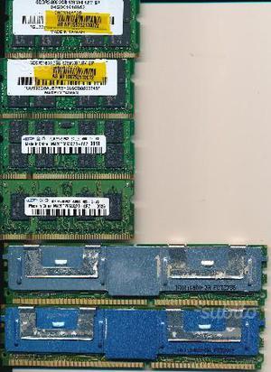 SCHEDE MEMORIA RAM per PC varie versioni