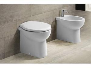 Sanitari filo muro skill terra wc+sedile frenato+bidet