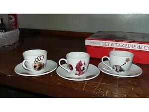 Set tazze da caffe' cuccioli