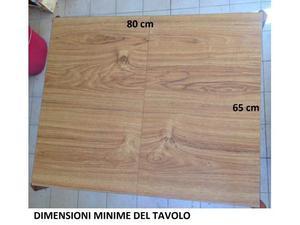 Tavolo lungo cm 100 x cm 65 con base posot class for Tavolo espandibile