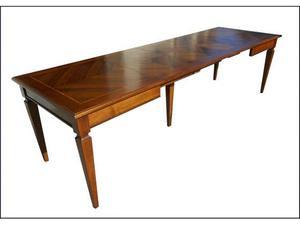 Scrittoio noce spinato stile bassano posot class - Piano tavolo su misura ...