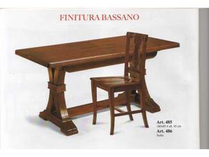 Tavolo più sedia in legno (anche separatamente)