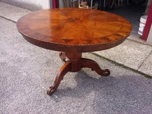 Tavolo rotondo originale antico diametro da 120 cm