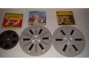 Tre bobine super 8mm con 5 film della disney