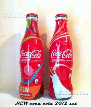 COCA COLA  set 2 bottiglie in vetro da 250ml