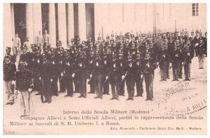 Cartolina  Scuola militare Modena bolloComando