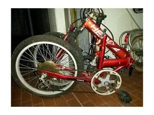 Mountain bike biammortizzata interamente pieghevole