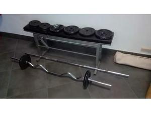 Panca e pesi vari