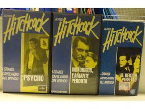 Stock 3 VHS Hitchcock