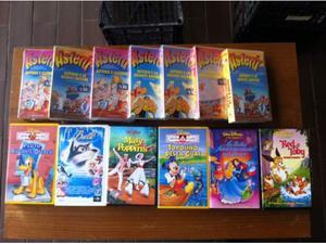 VHS Walt Disney originali n16 + 8 Film Asterix nuovi