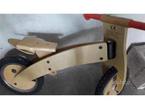 Bici senza pedali, in legno