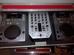 CDJ 350 + mixer vmx 200 + flight case
