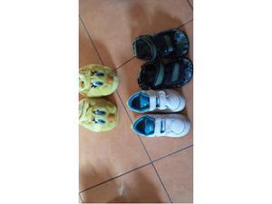Scarpe Nike Bimbo N. 24 + Pantafole N. 23 + Sandaletti