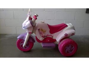 Scooter barbie peg perego rosa moto per bambina 6v