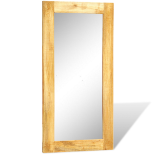 vidaXL Specchio rettangolare con cornice in legno massiccio
