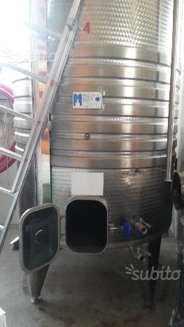 Botte cisterna serbatoio inox per vino