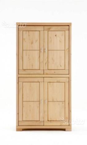 Credenza 4 ante legno cod 011/N in legno nuova