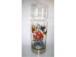 """Gucci vaso in vetro della serie """"Flora"""" con base in metallo"""