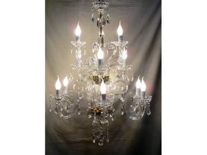 Plafoniere In Cristallo Di Boemia : Lampadario luci in cristallo di boemia con posot class