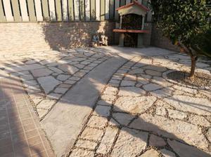 Lastroni giardino in pietra di Trani 4/6 cm Nuova