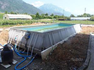 Scaletta piscina interrata inox 4 scalini nuova posot class for Piscina fuori terra normativa