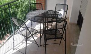 Tavolo Richiudibile Con Sedie Incorporate.Tavolino Diametro Circa Posot Class
