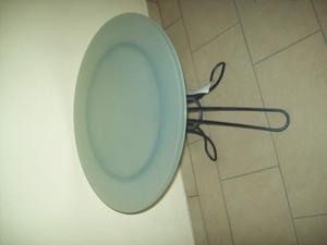 Tavolino metallo e vetro x il salotto