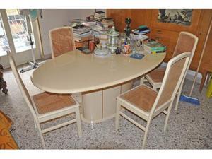 Tavolo con 4 sedie paglia di vienna