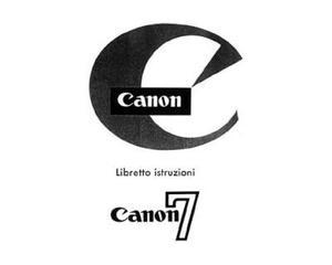 Libretti Istruzione Canon 7 A1 AE1 AE1P AT1