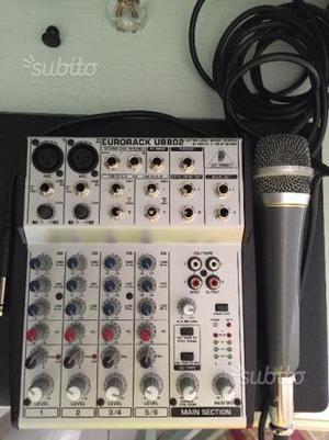 Mixer behringer ub802 + microfono e cavo karaoke