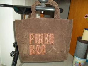 Pinko bag marrone in velluto