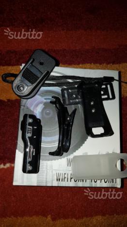 Videocamera wii fi bianco e nero