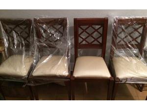 4 sedie legno massello ciliegio