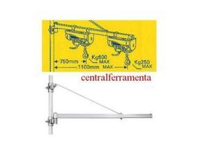 Braccio orientabile per paranco elettrico kg posot class for Paranco elettrico con supporto a bandiera