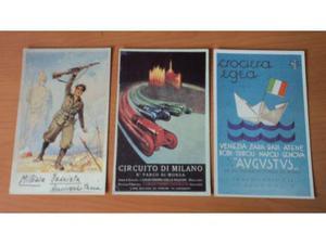 3 riproduzioni di famose cartoline d'epoca