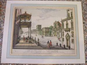 Antica stampa 700 città di napoli originale