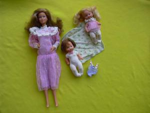 Barbie mamma cuore hearth family taiwan bebè + set abiti
