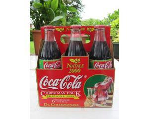 "Coca Cola 6 bottiglie ""Natale """