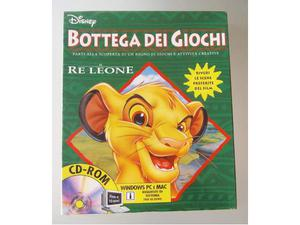 Disney bottega dei giochi pc cd rom il re leone nuovo