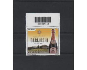 """Francobolli  made in italy """" berlucchi """"con codice a"""
