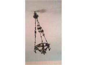 2 lampadari in ferro battuto -