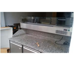 banco frigo 2 porte piano con alzatina tn posot class. Black Bedroom Furniture Sets. Home Design Ideas