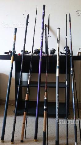 Canne da pesca e mulinelli