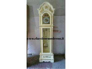 Orologio a pendolo legno avorio e oro CON SPEDIZIONE