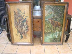 Quadri dipinti cervo e cacciagione