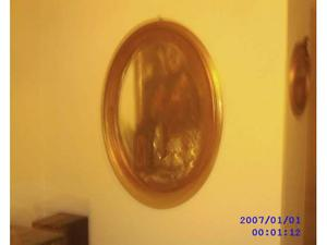 Specchio dorato vintage ovale posot class - Specchio ovale vintage ...