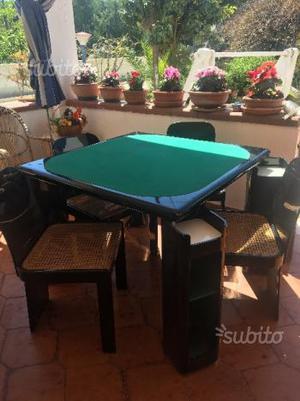 Tavolo quadrato classico comune nascosto posot class for Tavolo poker