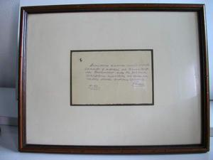 Biglietto con autografo originale di Enzo Ferrari