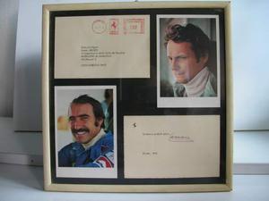 Cartolina con foto e autografo originale di Enzo Ferrari