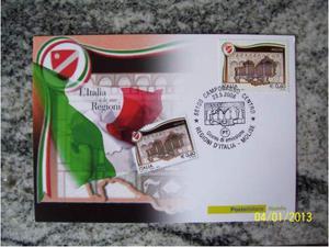 Cartolina filatelica FDC  Regione Molise (Campobasso).